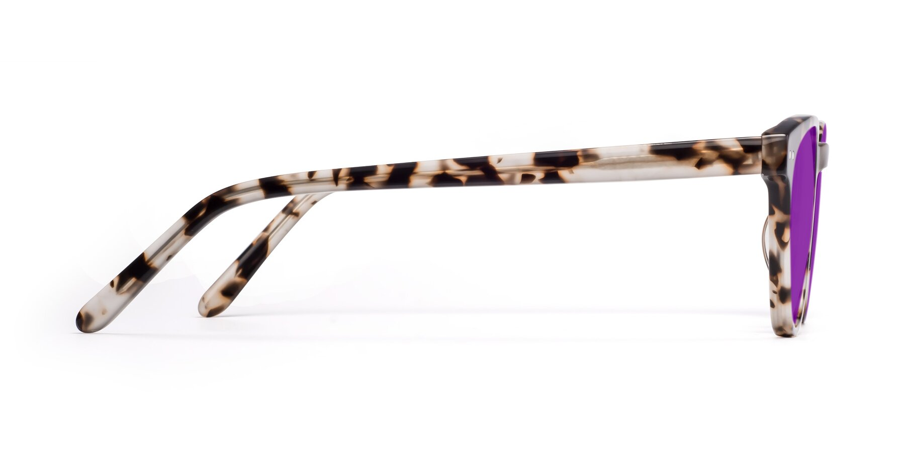 Side of Blaze in Tortoise with Purple Tinted Lenses