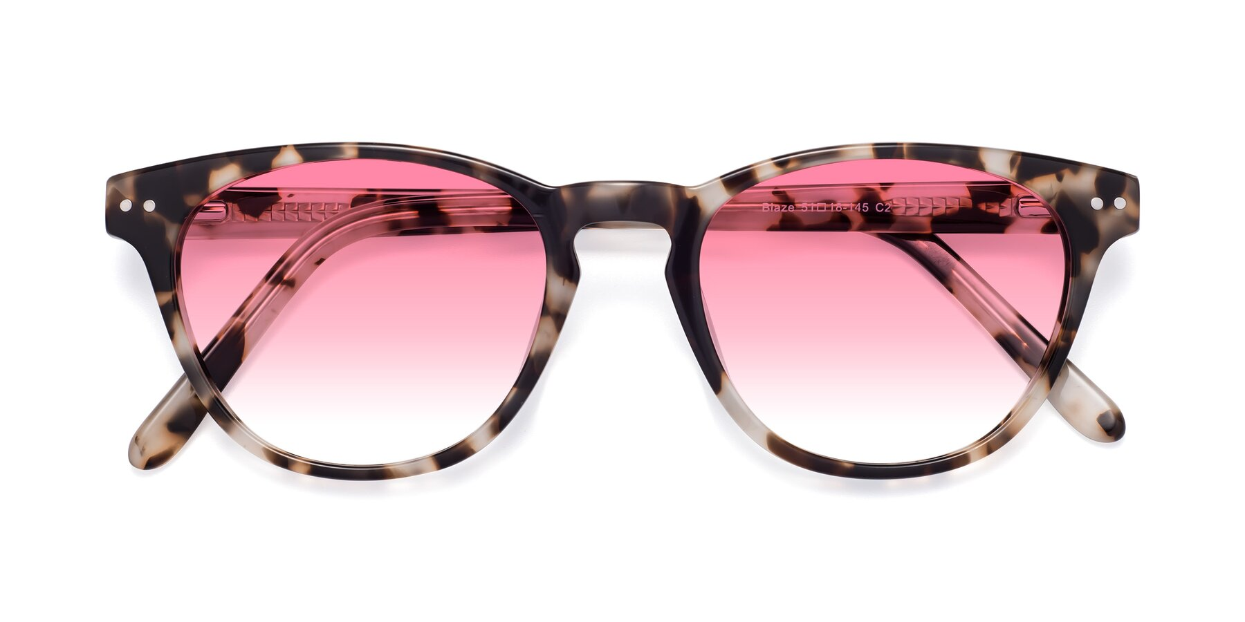 Folded Front of Blaze in Tortoise with Pink Gradient Lenses