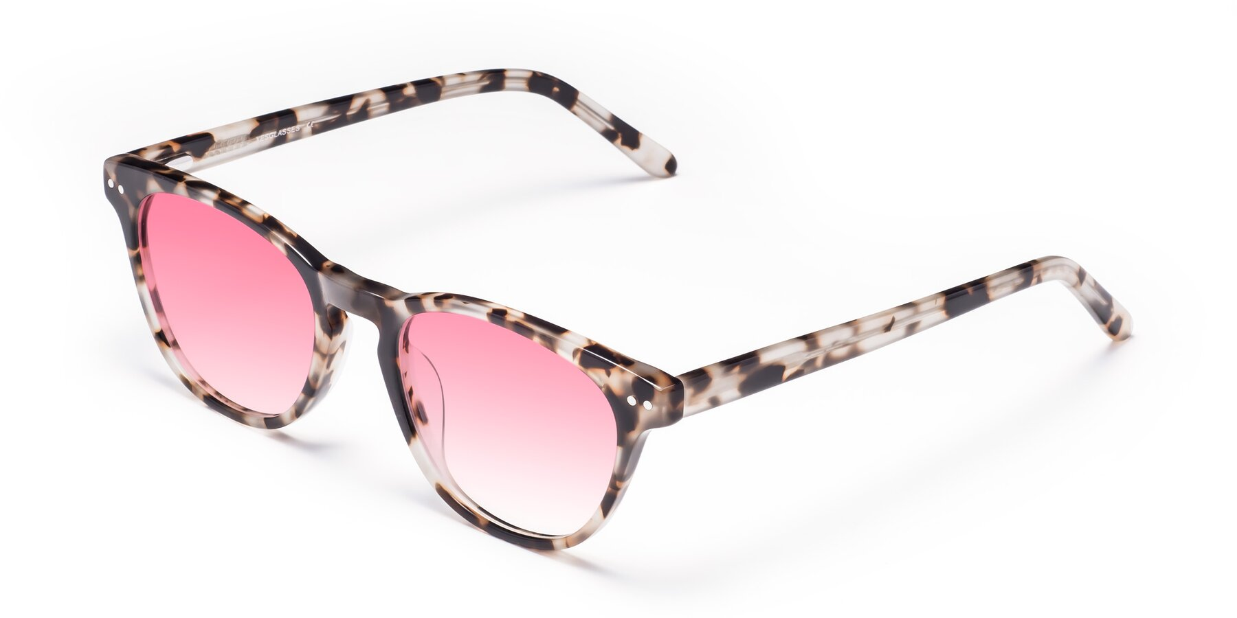Angle of Blaze in Tortoise with Pink Gradient Lenses
