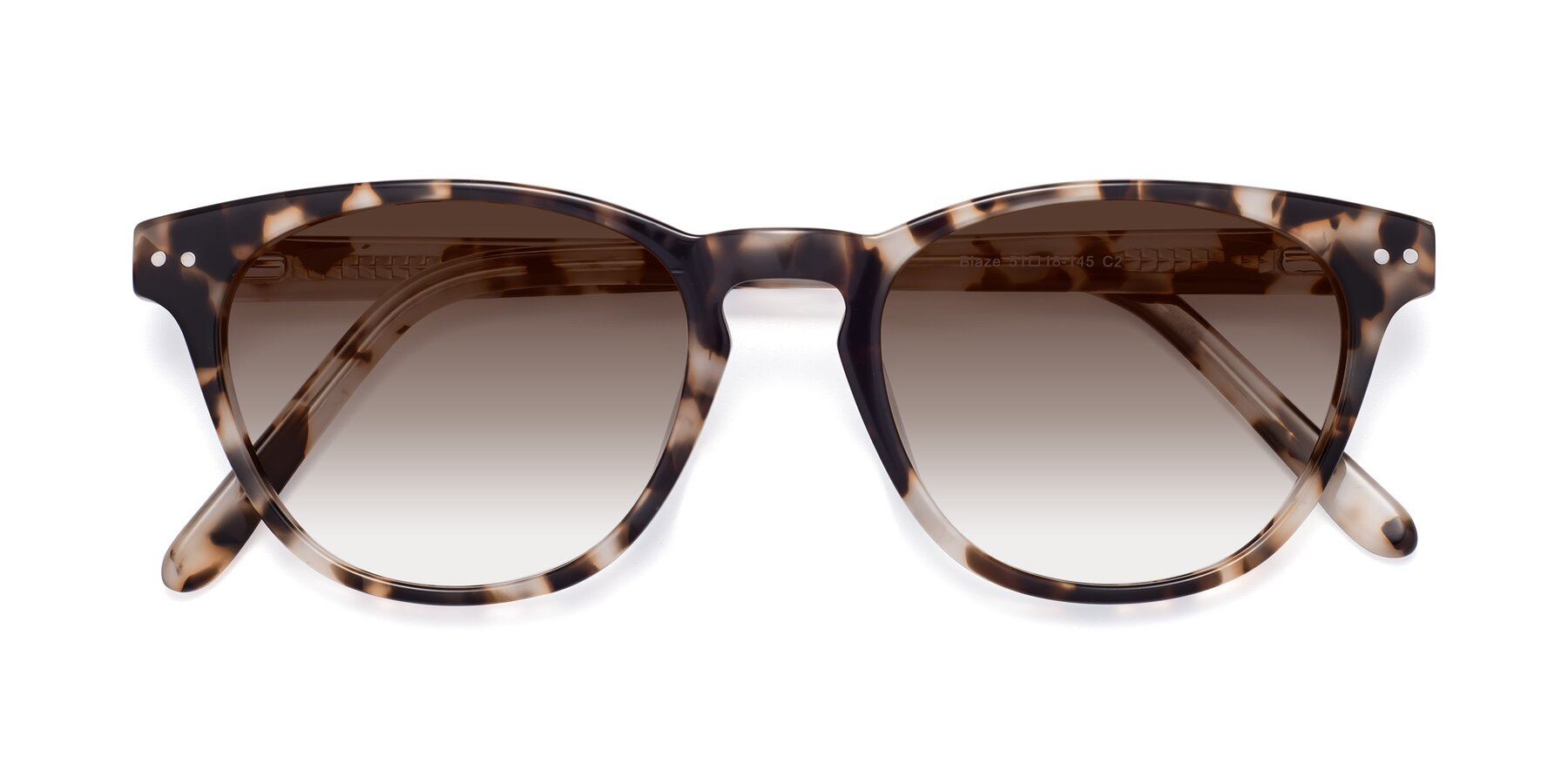 Folded Front of Blaze in Tortoise with Brown Gradient Lenses