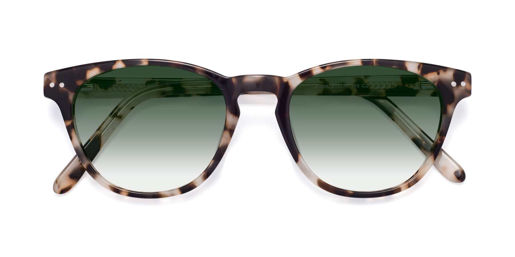 Folded Front of Blaze in Tortoise with Green Gradient Lenses