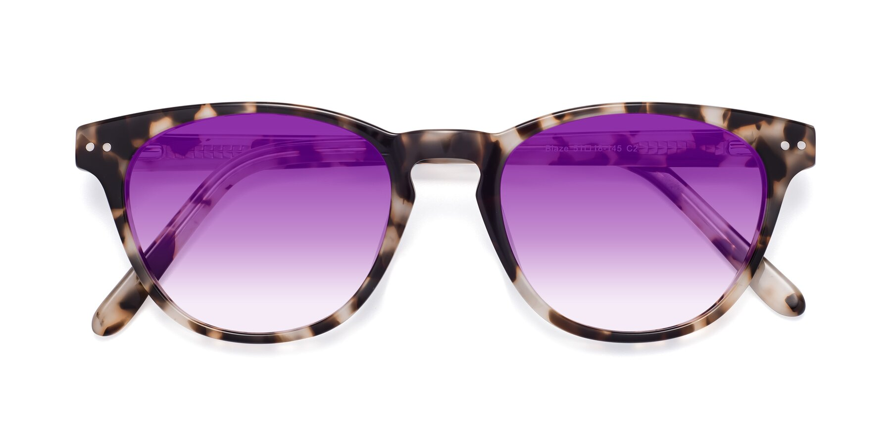 Folded Front of Blaze in Tortoise with Purple Gradient Lenses