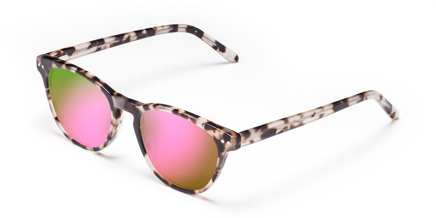 Angle of Blaze in Tortoise with Pink Mirrored Lenses