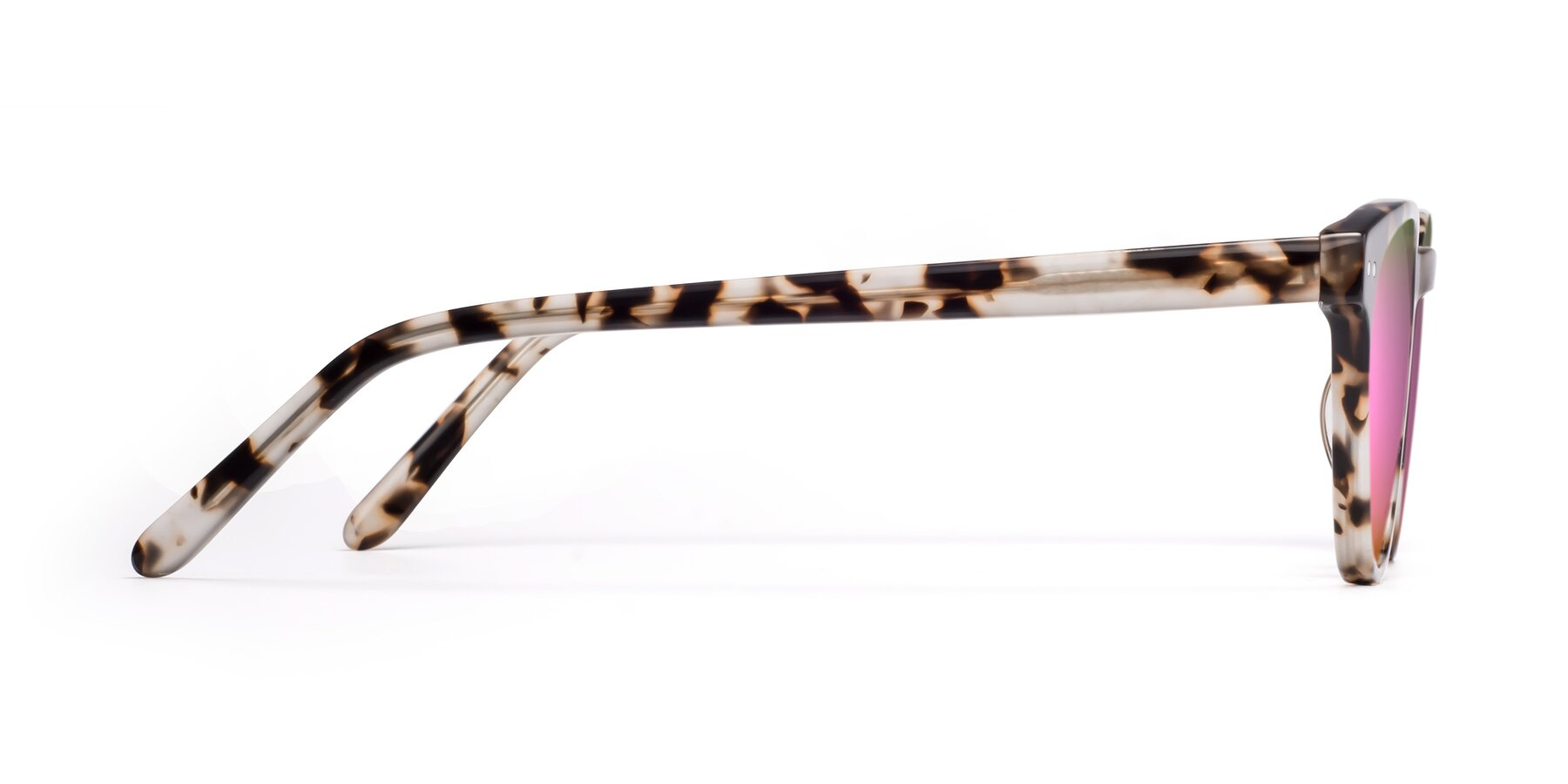 Side of Blaze in Tortoise with Pink Mirrored Lenses