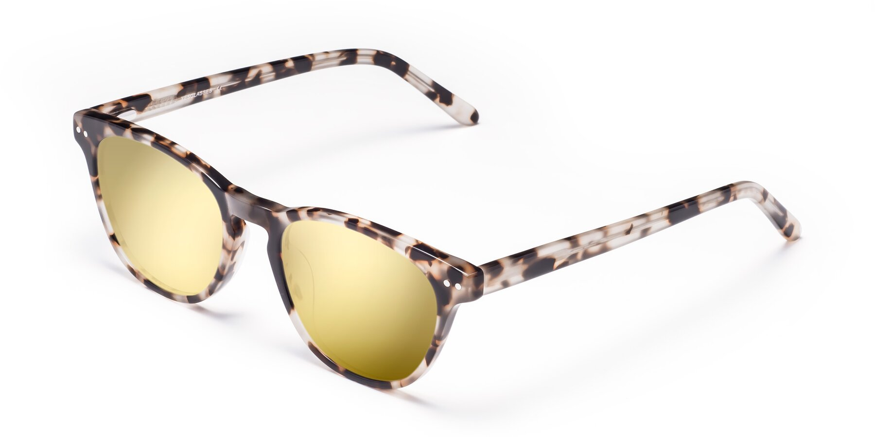 Angle of Blaze in Tortoise with Gold Mirrored Lenses