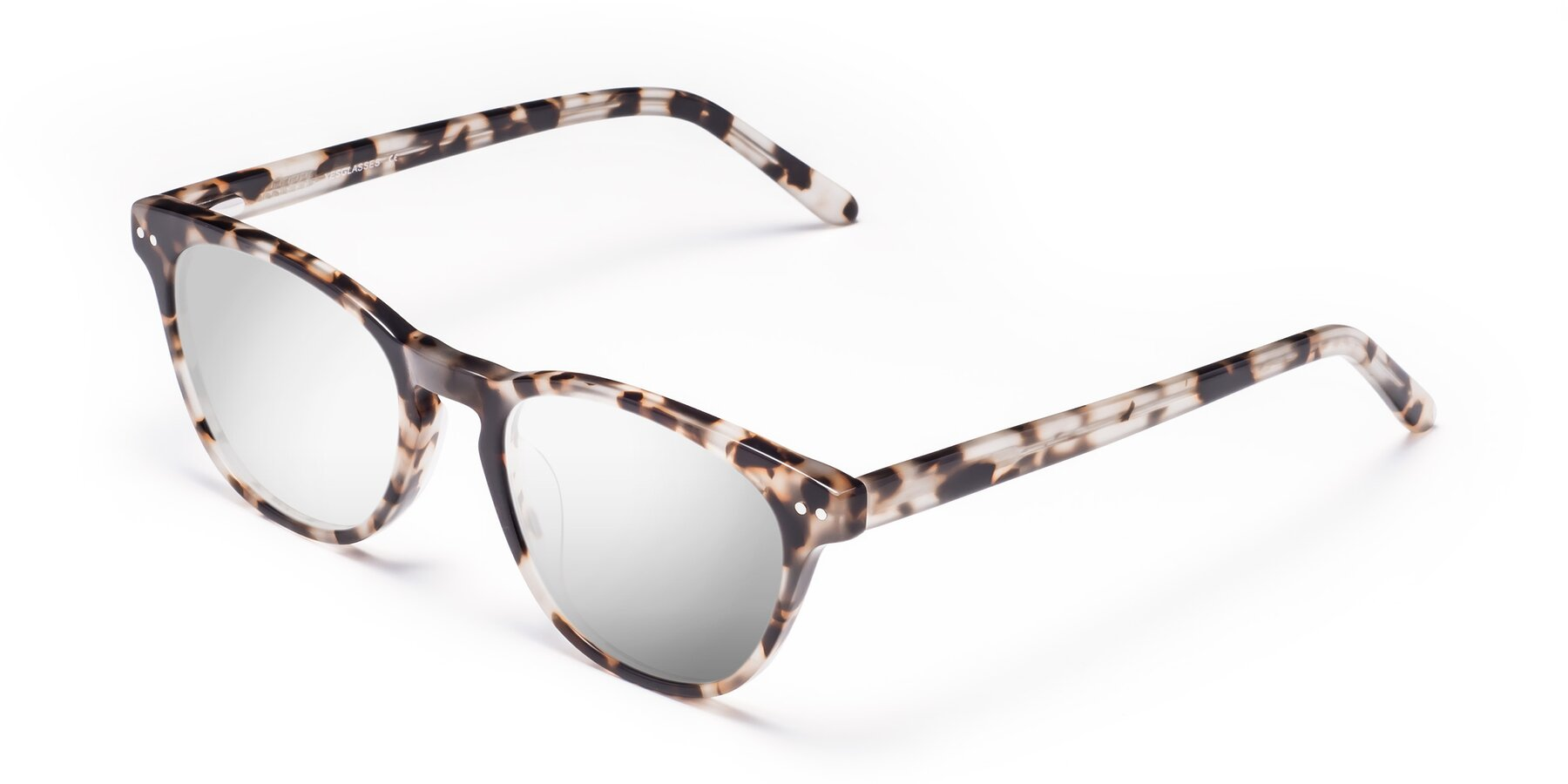 Angle of Blaze in Tortoise with Silver Mirrored Lenses