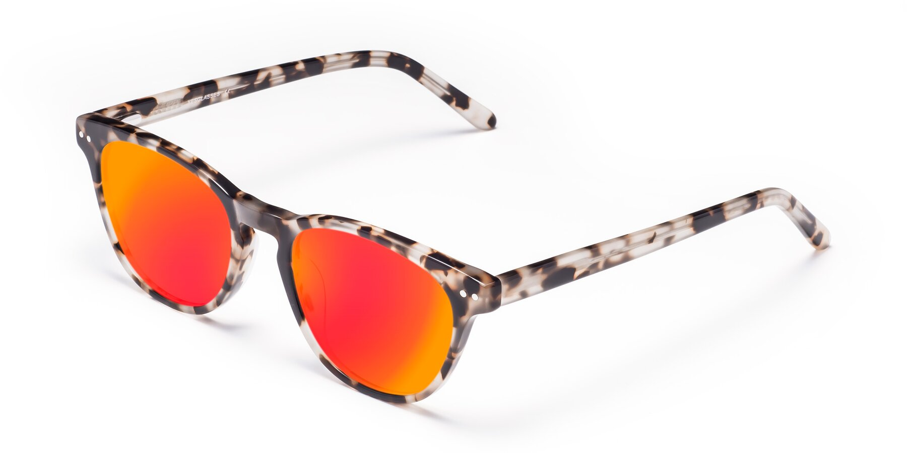Angle of Blaze in Tortoise with Red Gold Mirrored Lenses