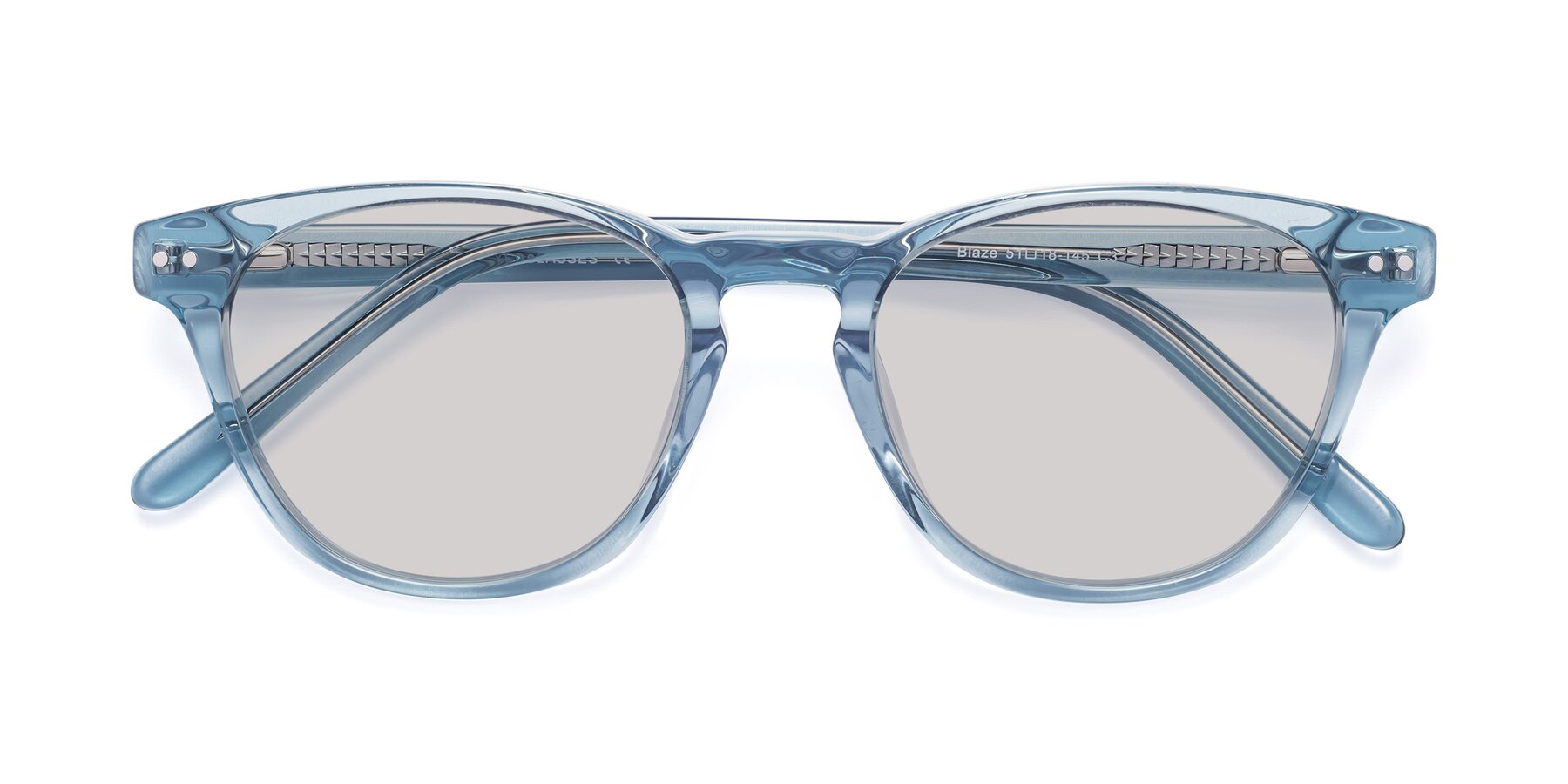 Folded Front of Blaze in Light Blue with Light Gray Tinted Lenses