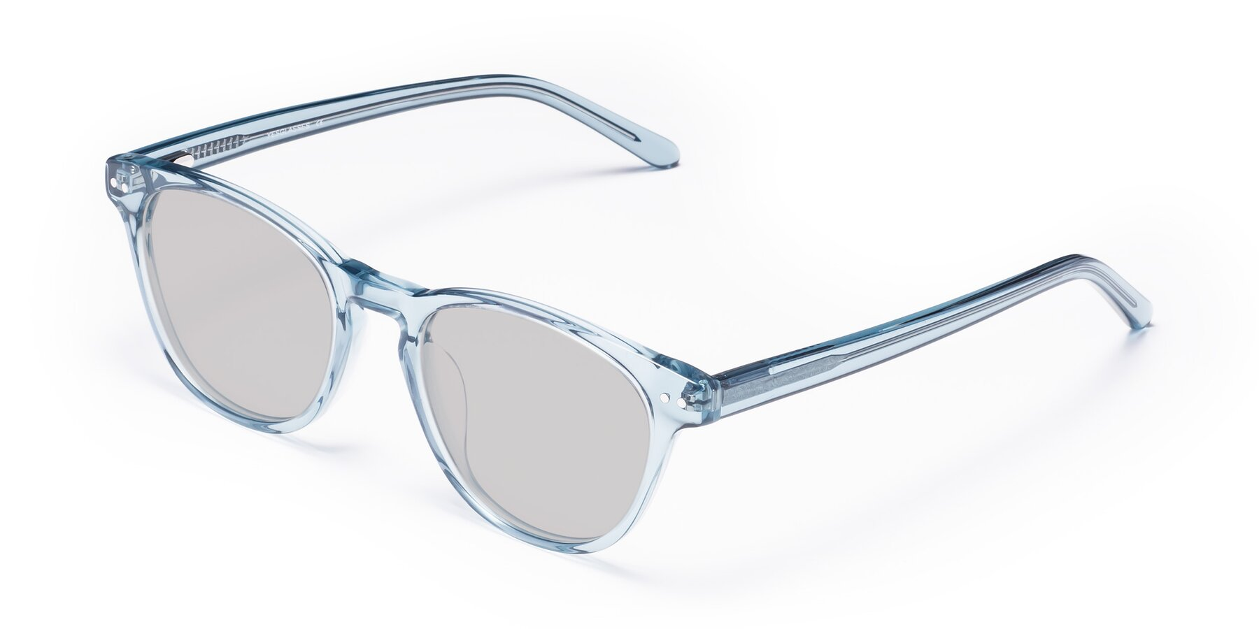 Angle of Blaze in Light Blue with Light Gray Tinted Lenses