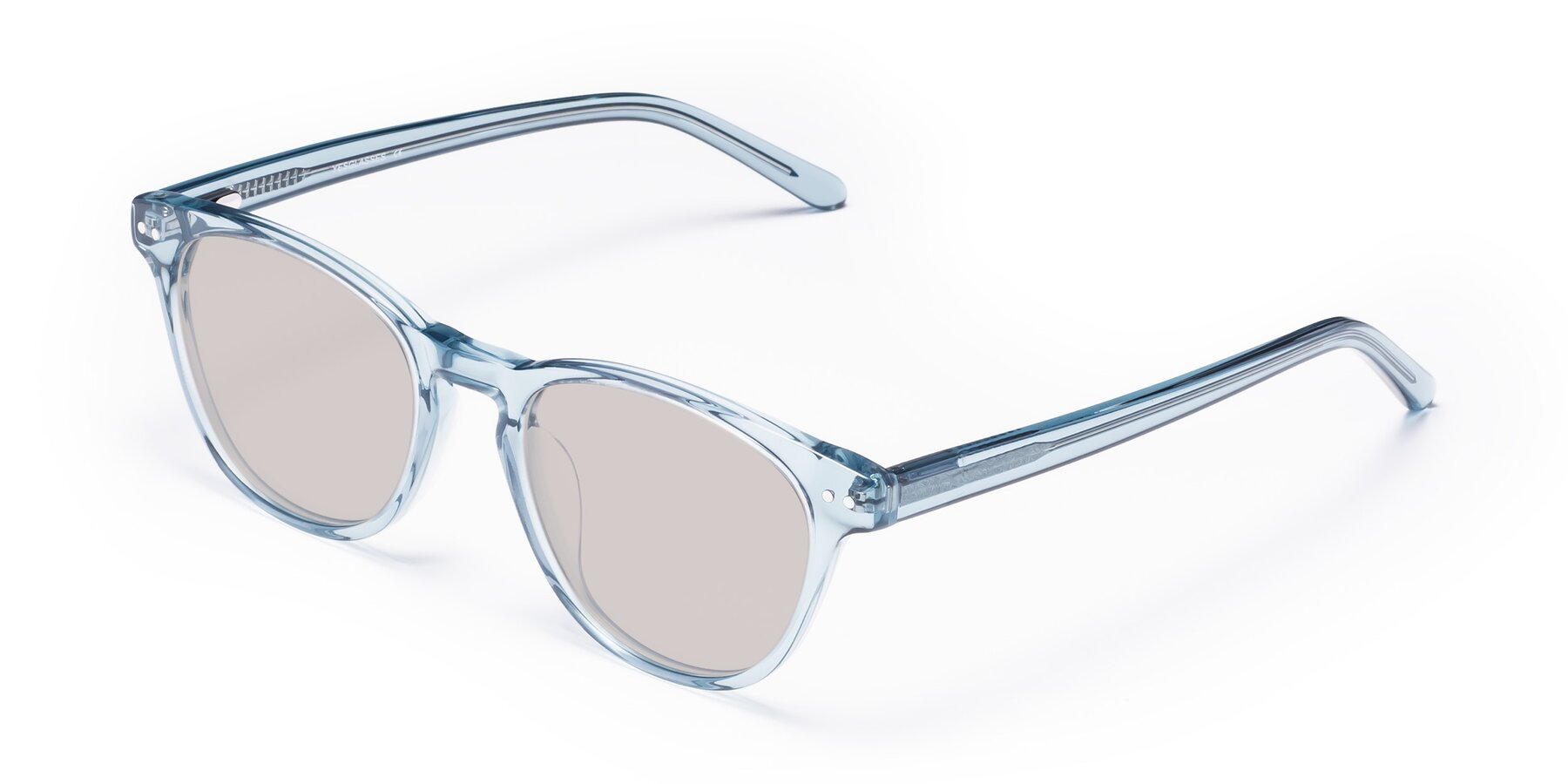 Angle of Blaze in Light Blue with Light Brown Tinted Lenses