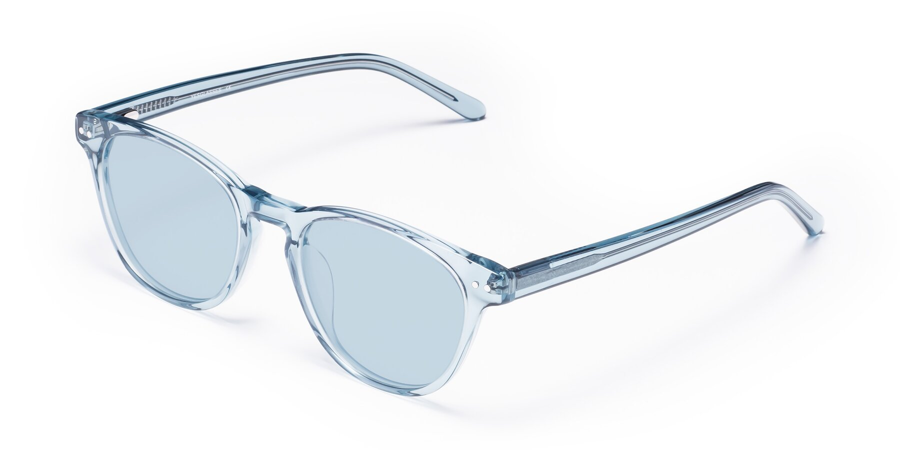 Angle of Blaze in Light Blue with Light Blue Tinted Lenses