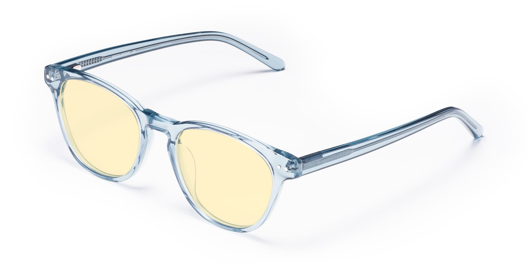 Angle of Blaze in Light Blue with Light Yellow Tinted Lenses