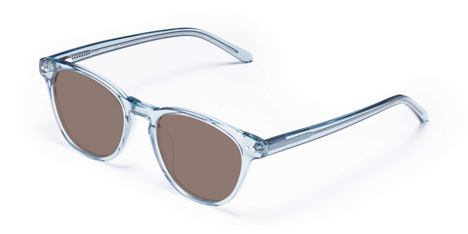 Angle of Blaze in Light Blue with Medium Brown Tinted Lenses