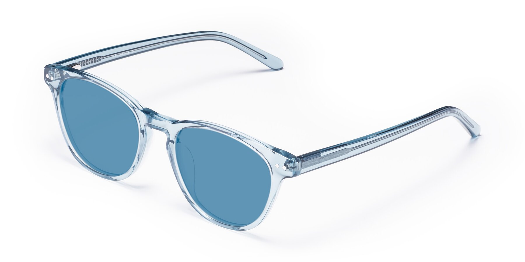 Angle of Blaze in Light Blue with Medium Blue Tinted Lenses