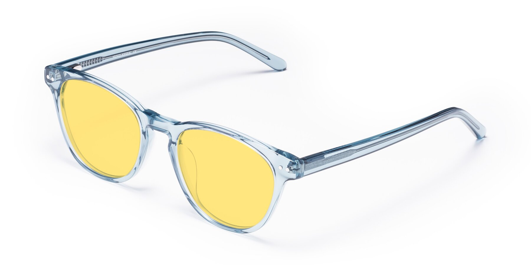 Angle of Blaze in Light Blue with Medium Yellow Tinted Lenses