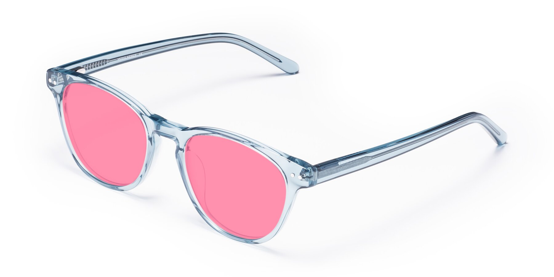 Angle of Blaze in Light Blue with Pink Tinted Lenses