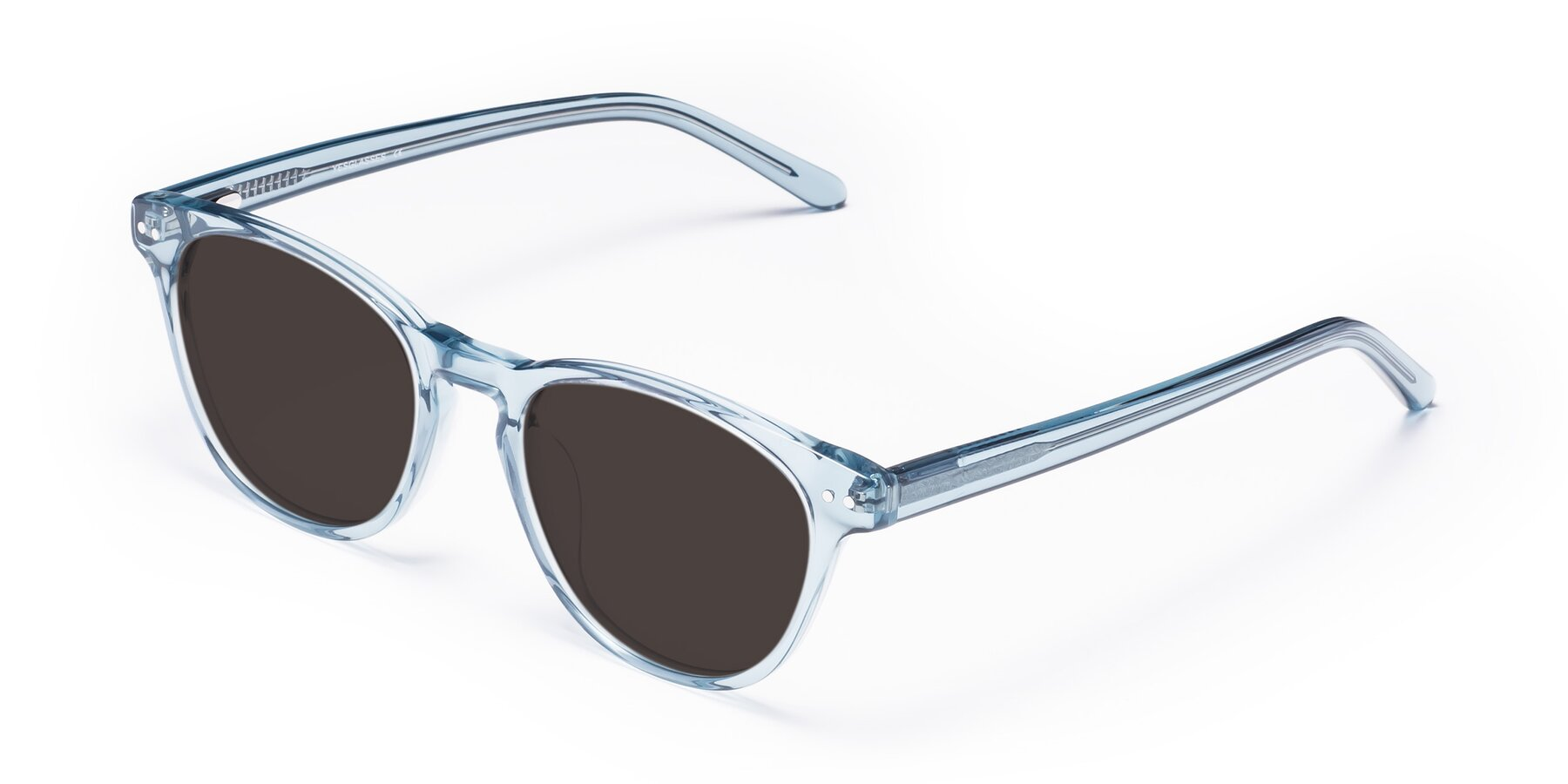 Angle of Blaze in Light Blue with Gray Tinted Lenses