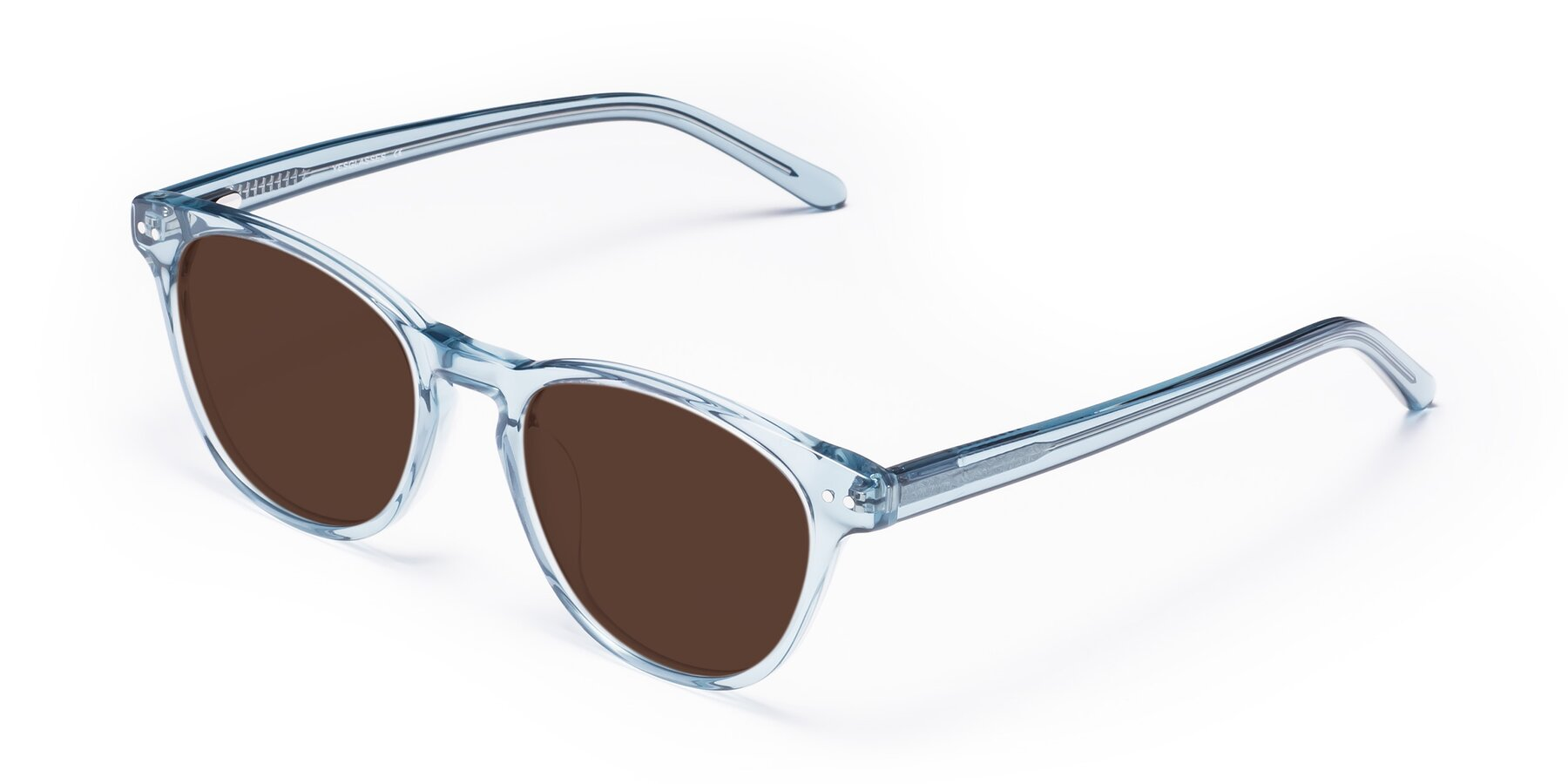 Angle of Blaze in Light Blue with Brown Tinted Lenses