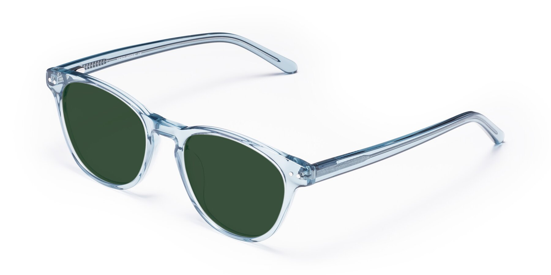 Angle of Blaze in Light Blue with Green Tinted Lenses