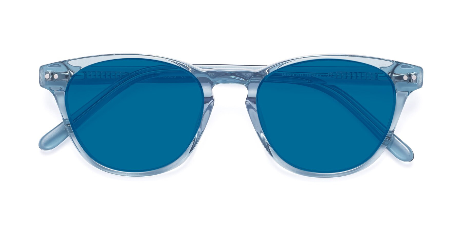 Folded Front of Blaze in Light Blue with Blue Tinted Lenses