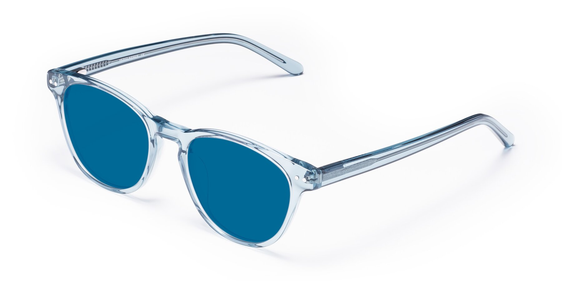 Angle of Blaze in Light Blue with Blue Tinted Lenses