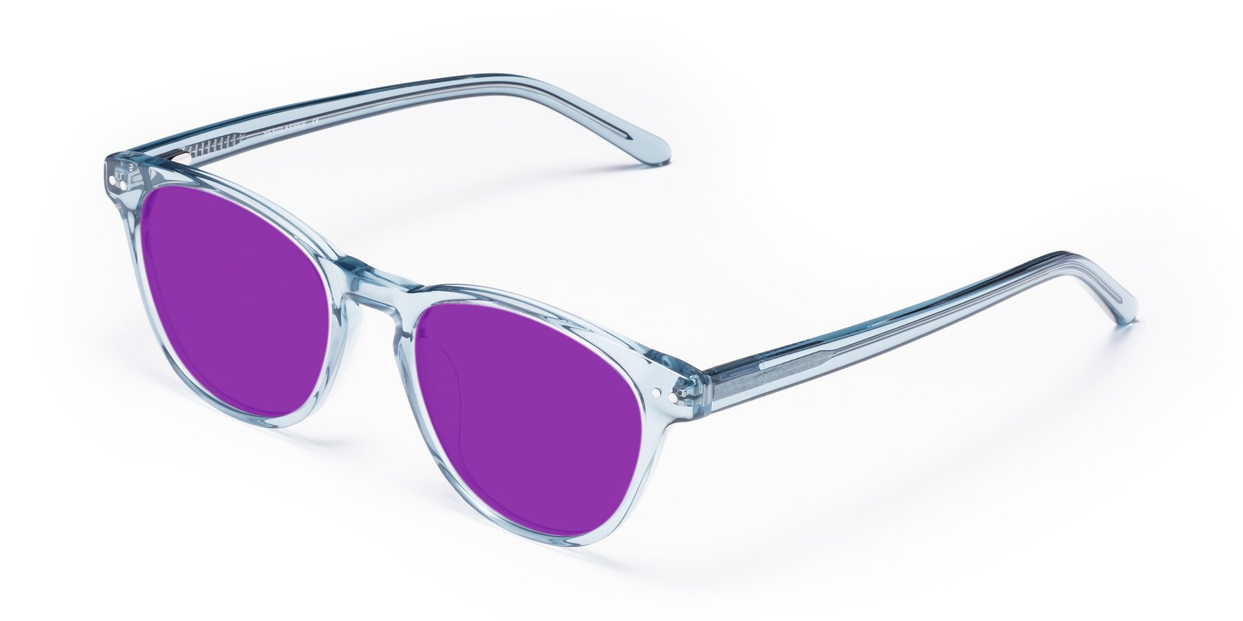 Angle of Blaze in Light Blue with Purple Tinted Lenses