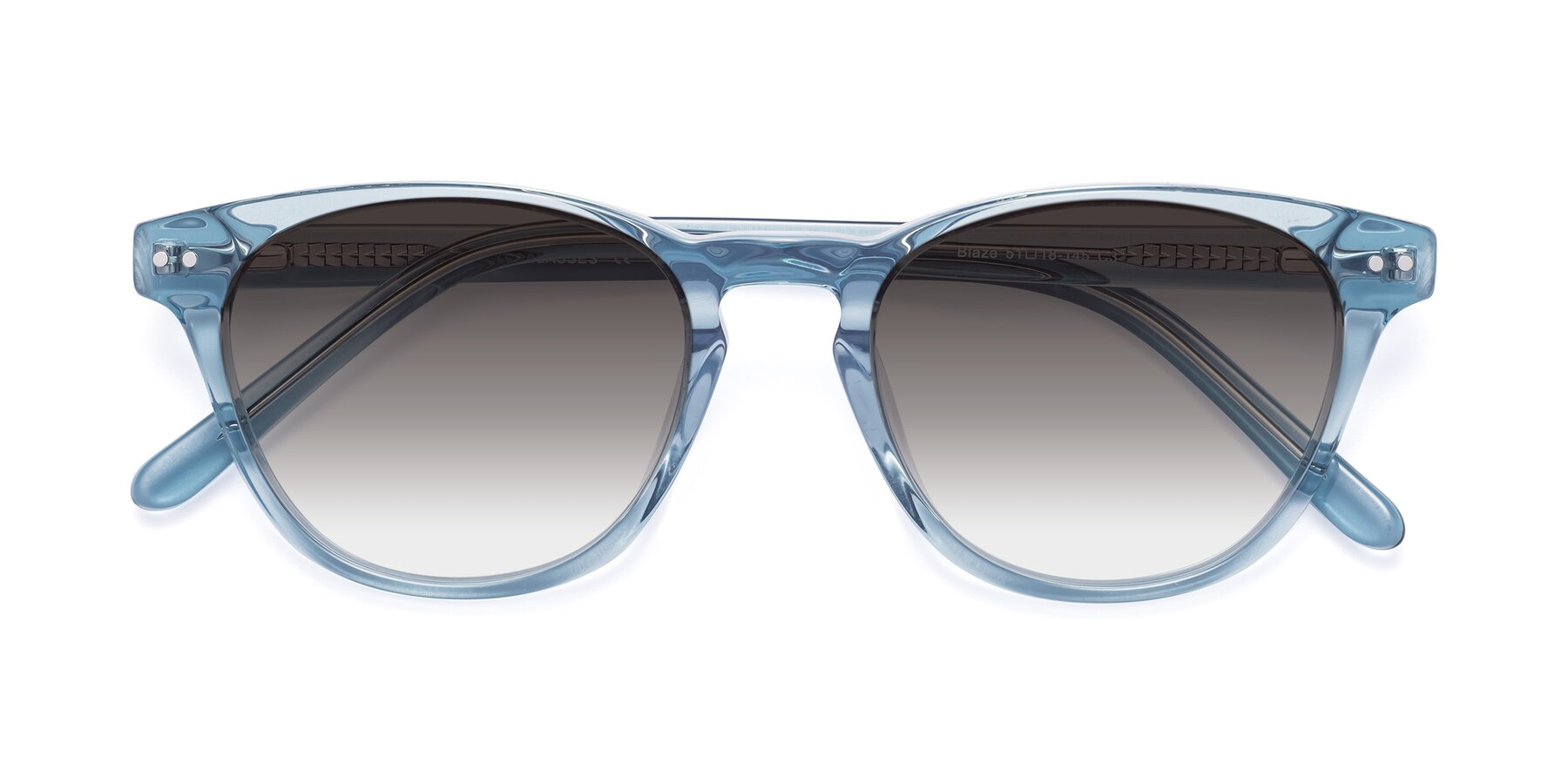 Folded Front of Blaze in Light Blue with Gray Gradient Lenses