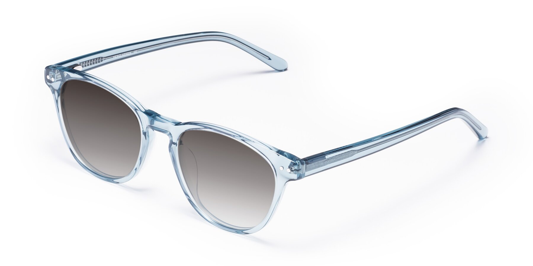 Angle of Blaze in Light Blue with Gray Gradient Lenses