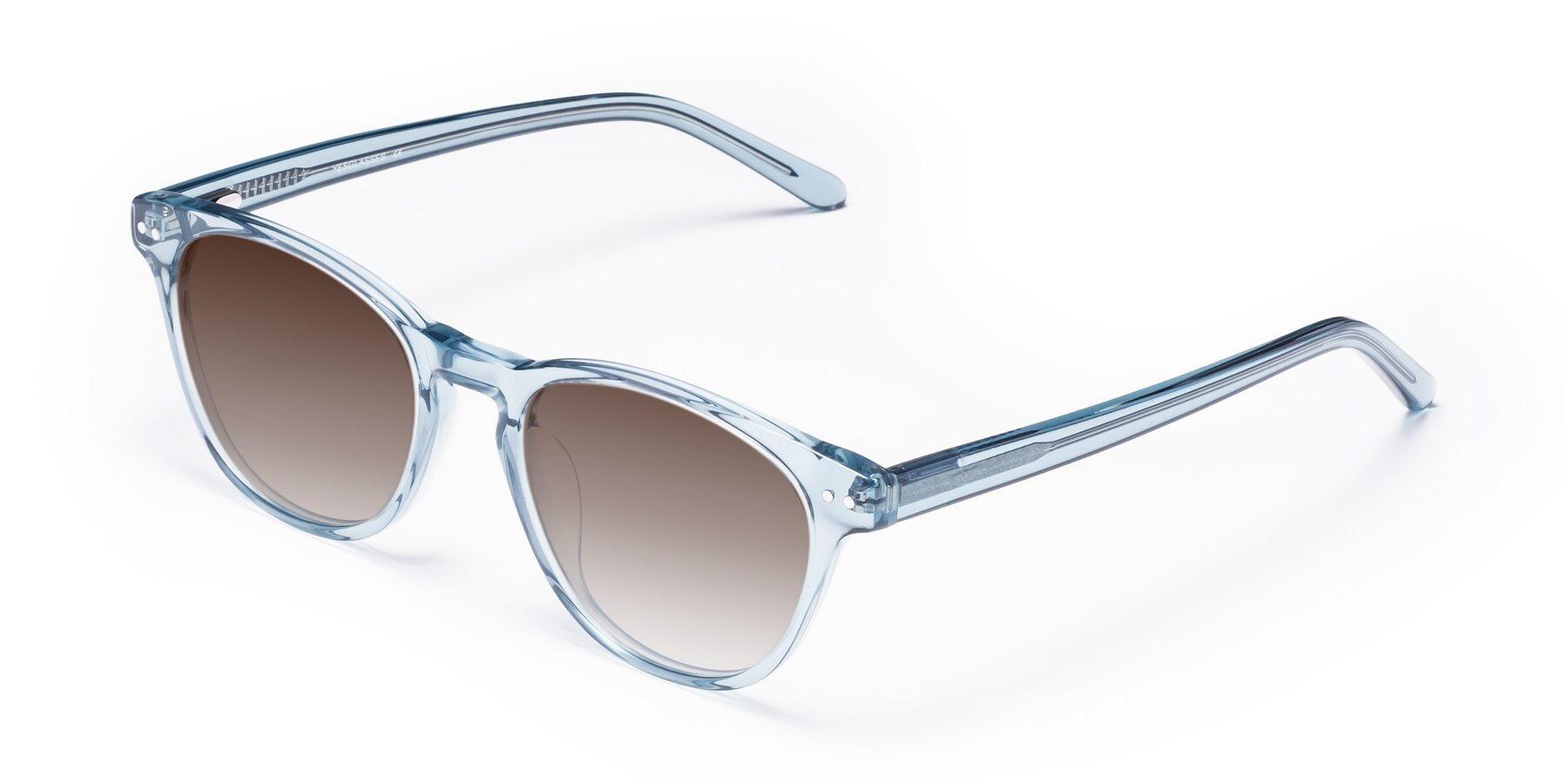 Angle of Blaze in Light Blue with Brown Gradient Lenses