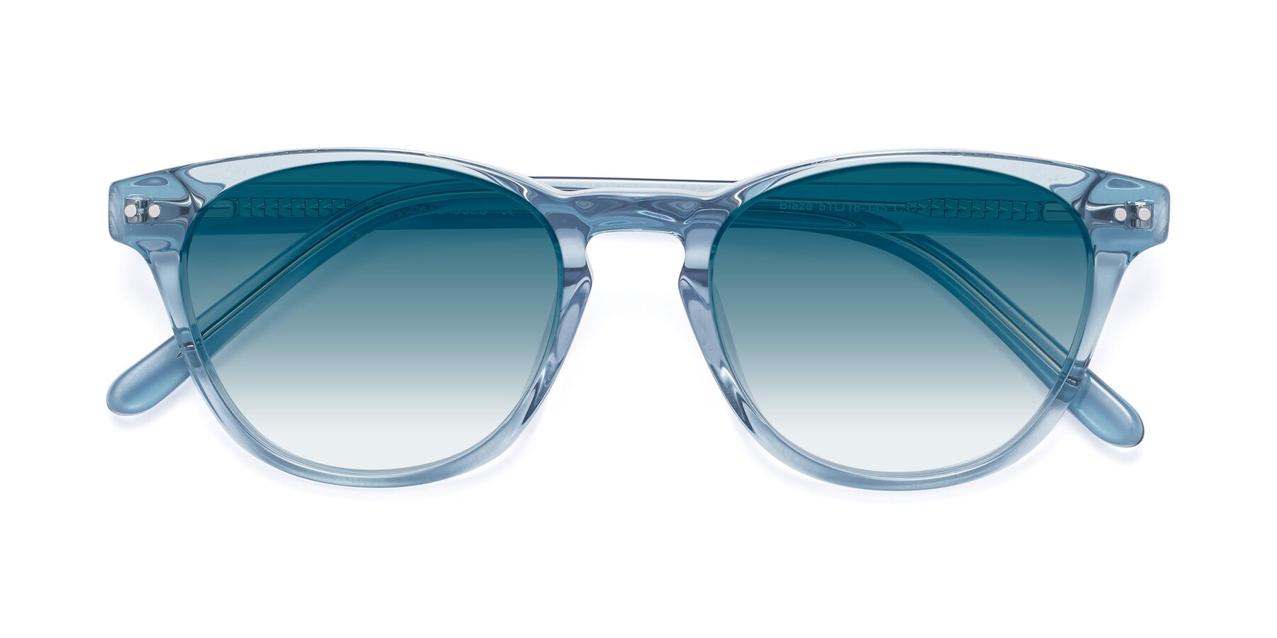 Folded Front of Blaze in Light Blue with Blue Gradient Lenses