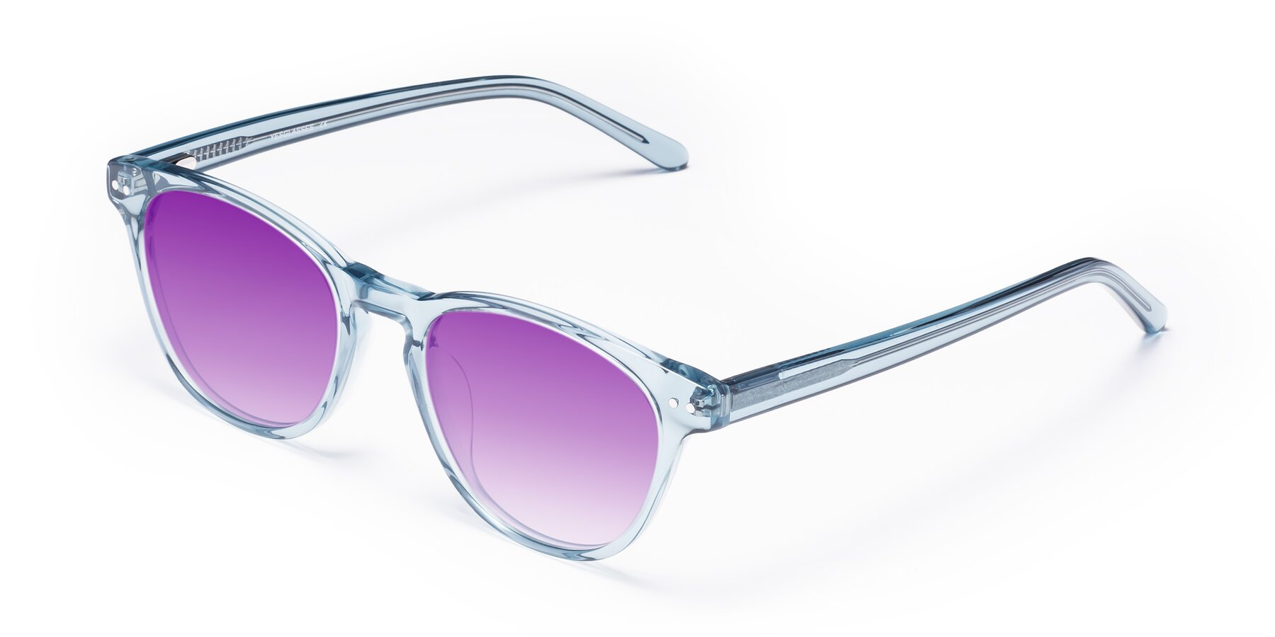 Angle of Blaze in Light Blue with Purple Gradient Lenses