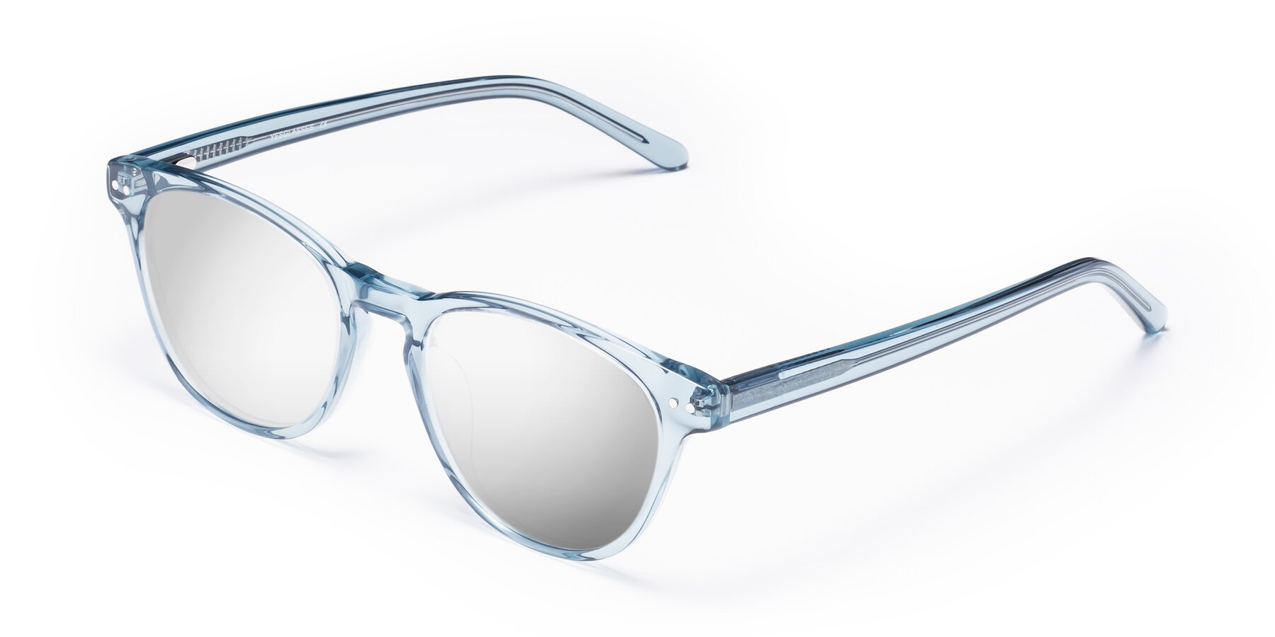Angle of Blaze in Light Blue with Silver Mirrored Lenses