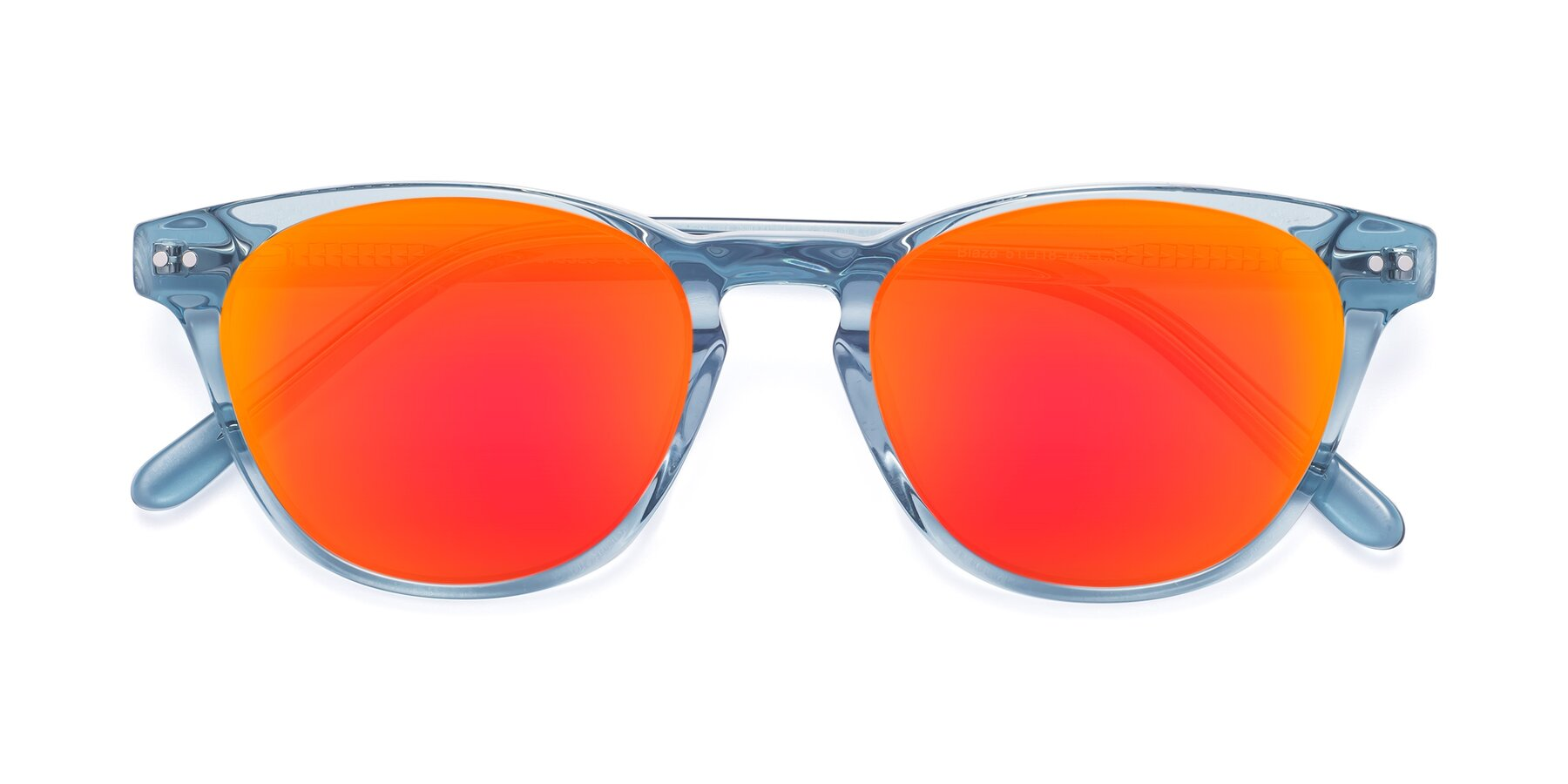 Folded Front of Blaze in Light Blue with Red Gold Mirrored Lenses