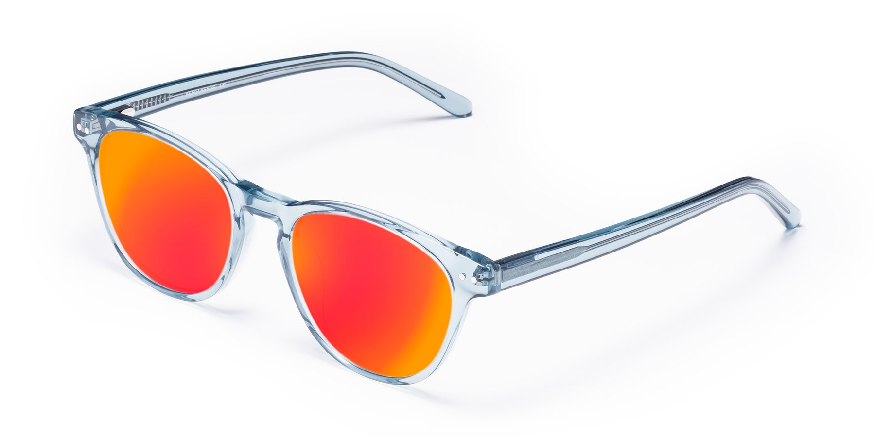 Angle of Blaze in Light Blue with Red Gold Mirrored Lenses