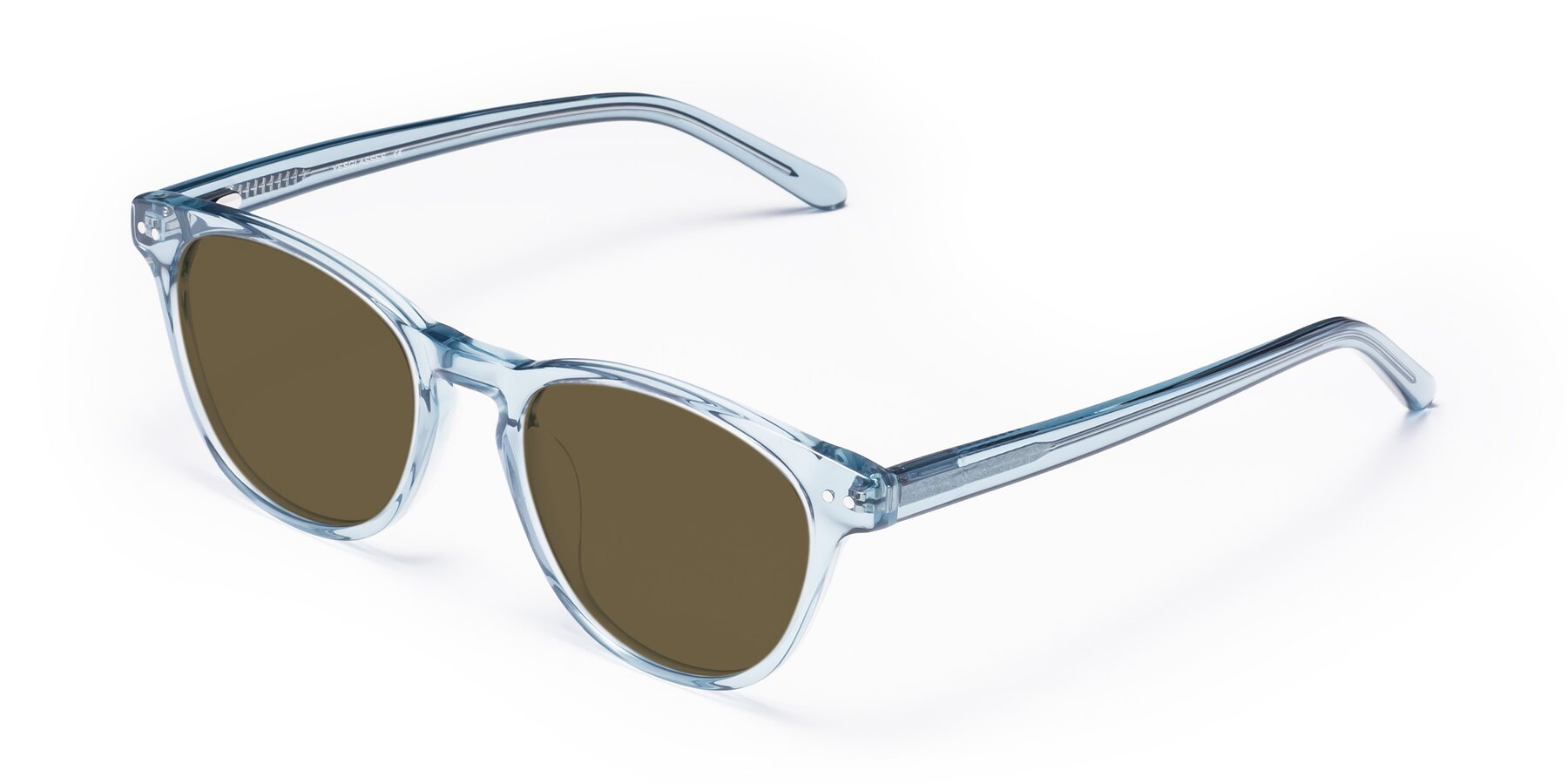 Angle of Blaze in Light Blue with Brown Polarized Lenses