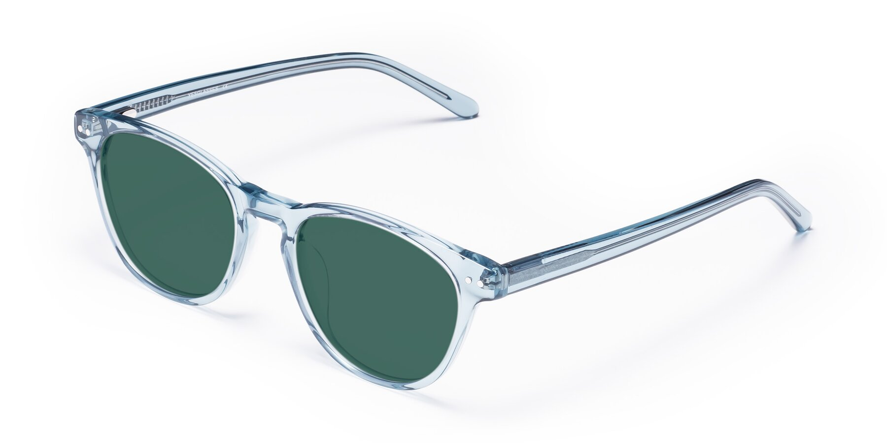 Angle of Blaze in Light Blue with Green Polarized Lenses