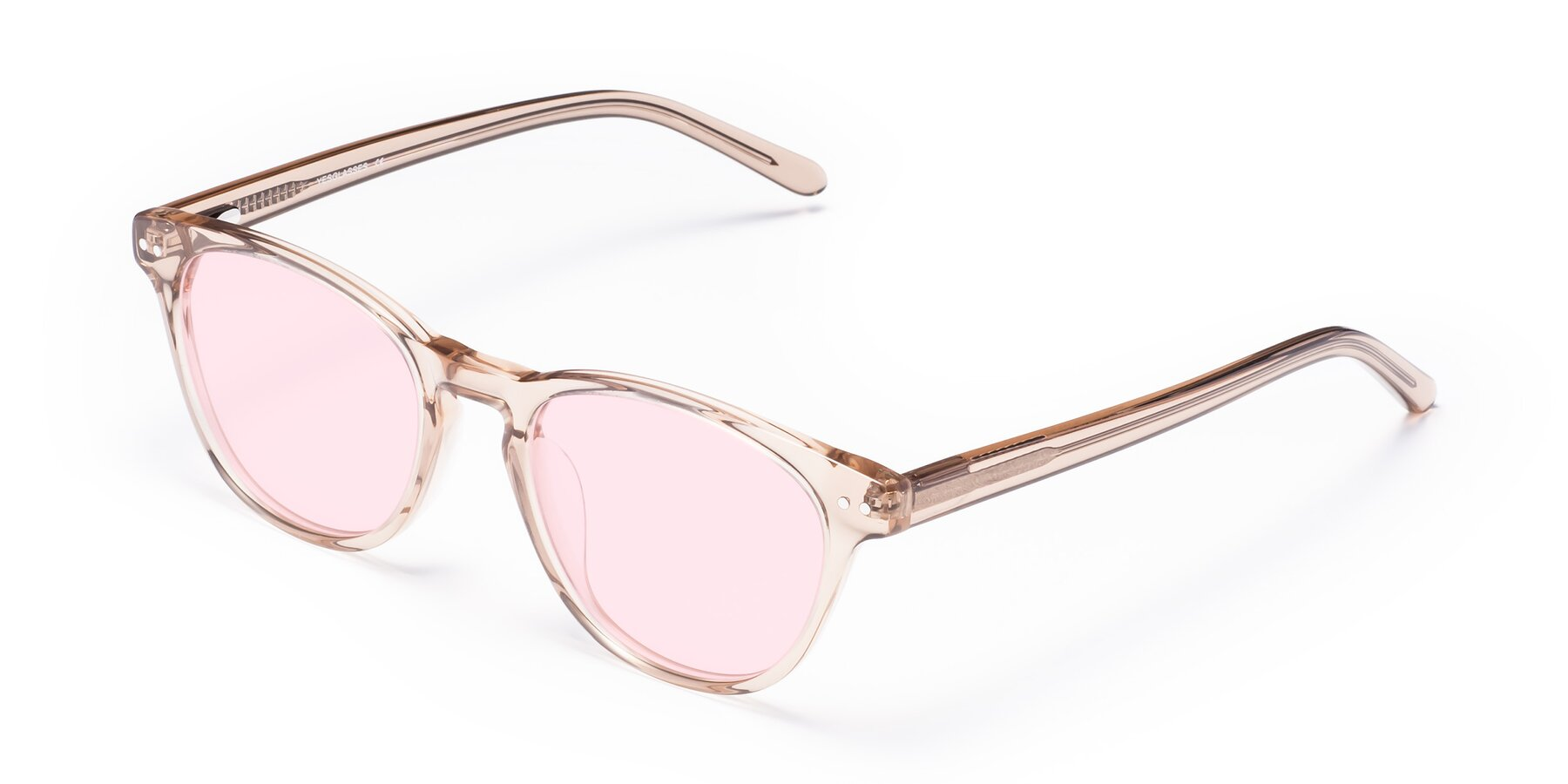 Angle of Blaze in light Brown with Light Pink Tinted Lenses