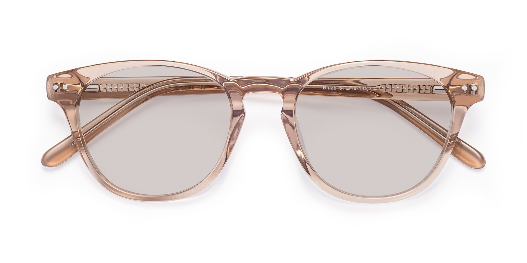 Folded Front of Blaze in light Brown with Light Brown Tinted Lenses