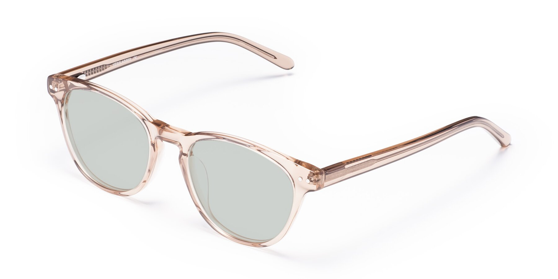 Angle of Blaze in light Brown with Light Green Tinted Lenses