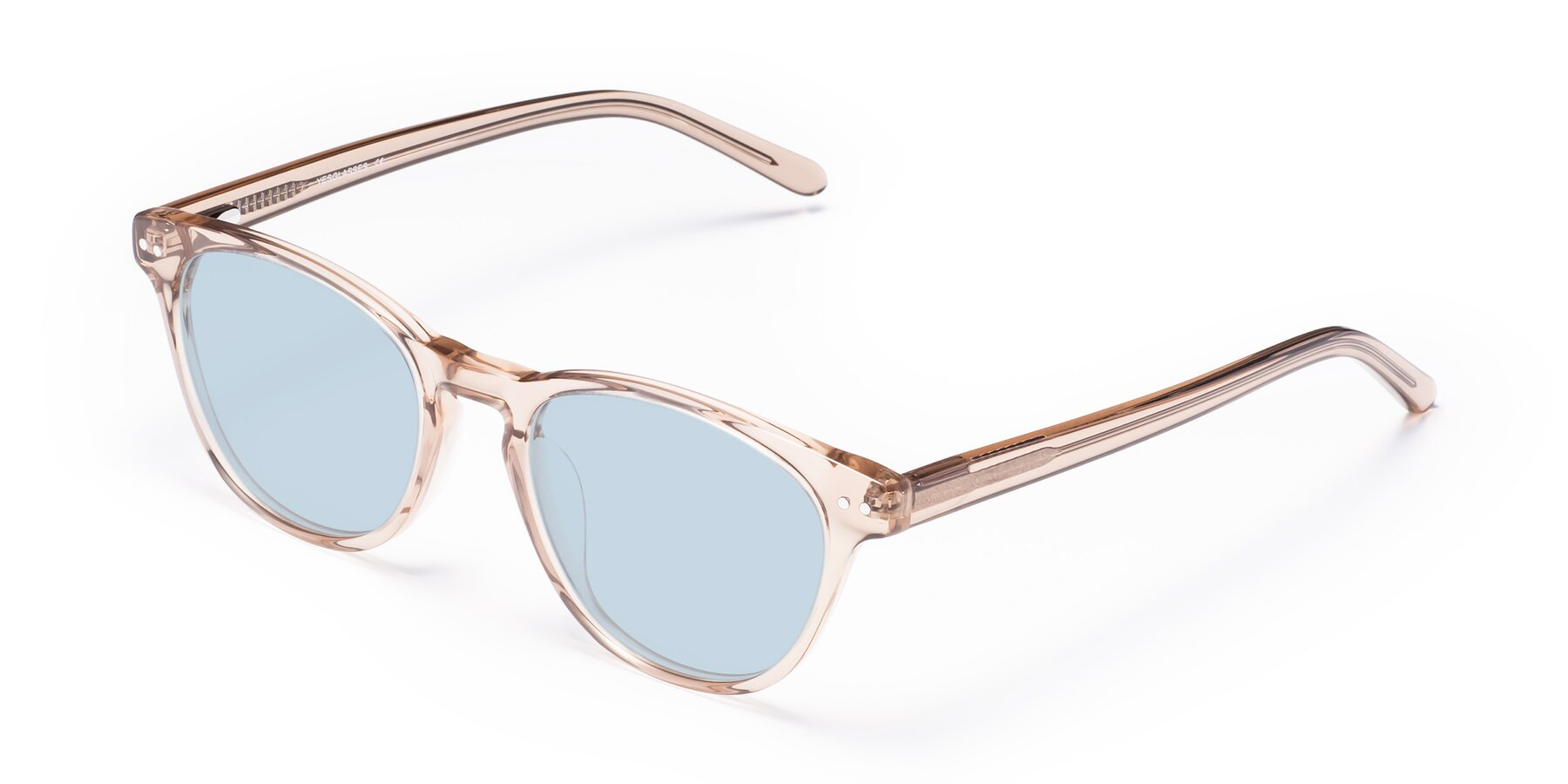 Angle of Blaze in light Brown with Light Blue Tinted Lenses