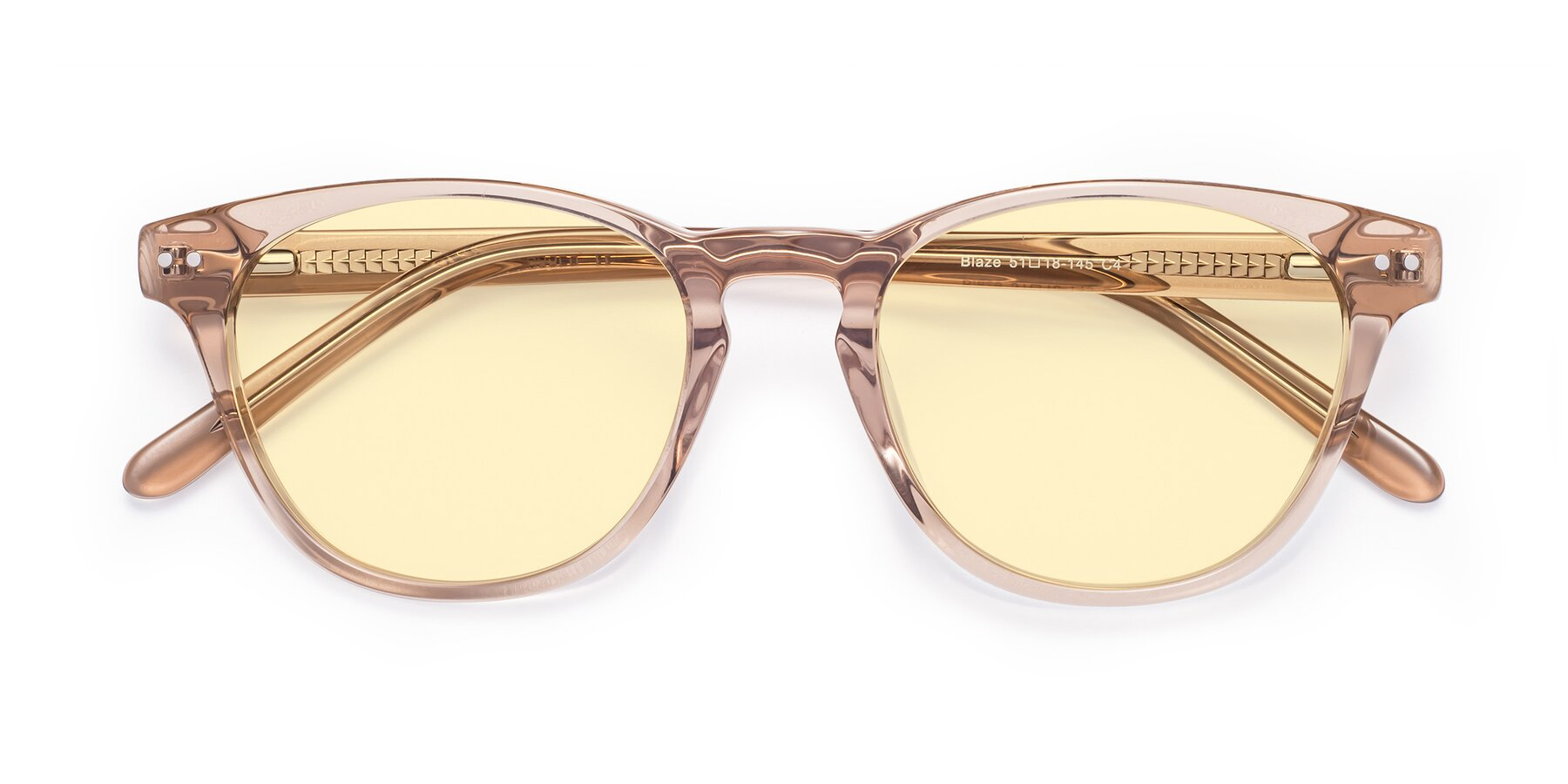 Folded Front of Blaze in light Brown with Light Yellow Tinted Lenses