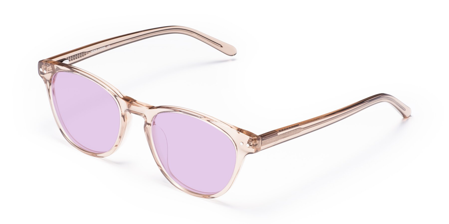 Angle of Blaze in light Brown with Light Purple Tinted Lenses
