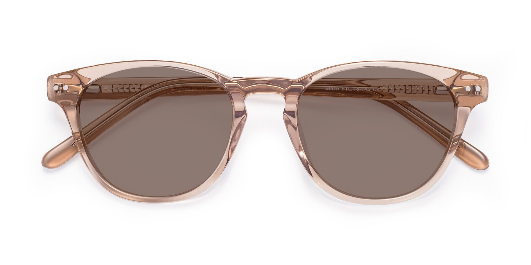 Folded Front of Blaze in light Brown with Medium Brown Tinted Lenses