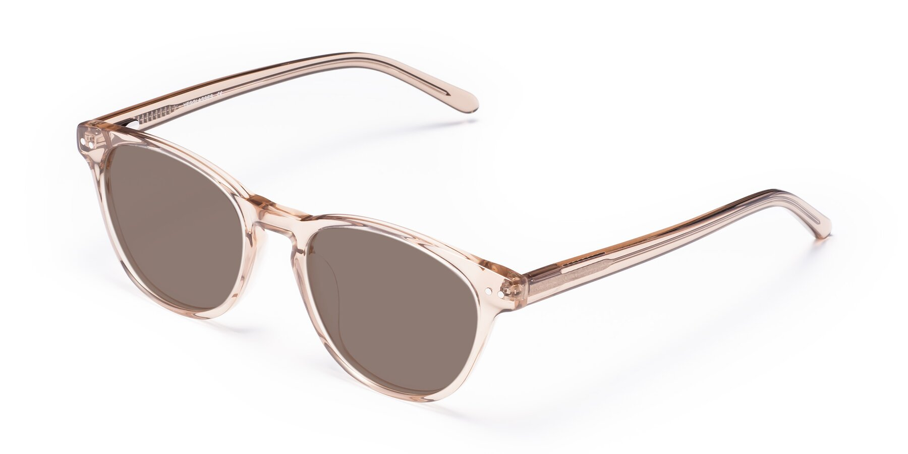 Angle of Blaze in light Brown with Medium Brown Tinted Lenses