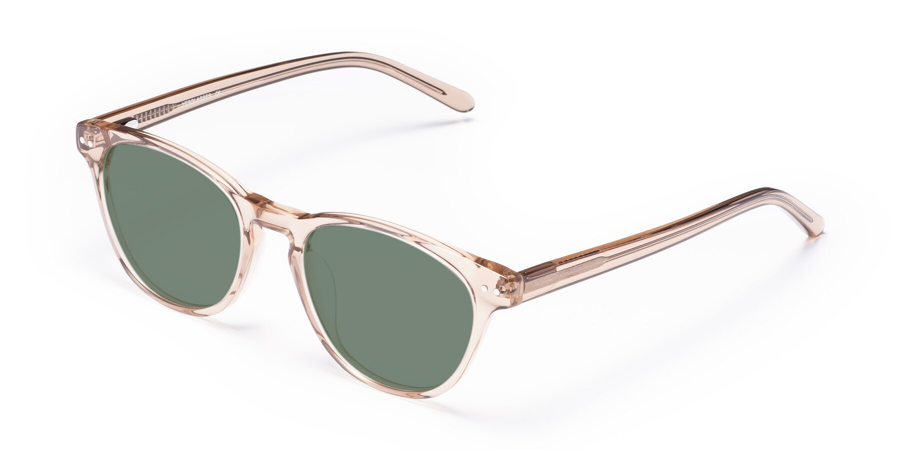 Angle of Blaze in light Brown with Medium Green Tinted Lenses