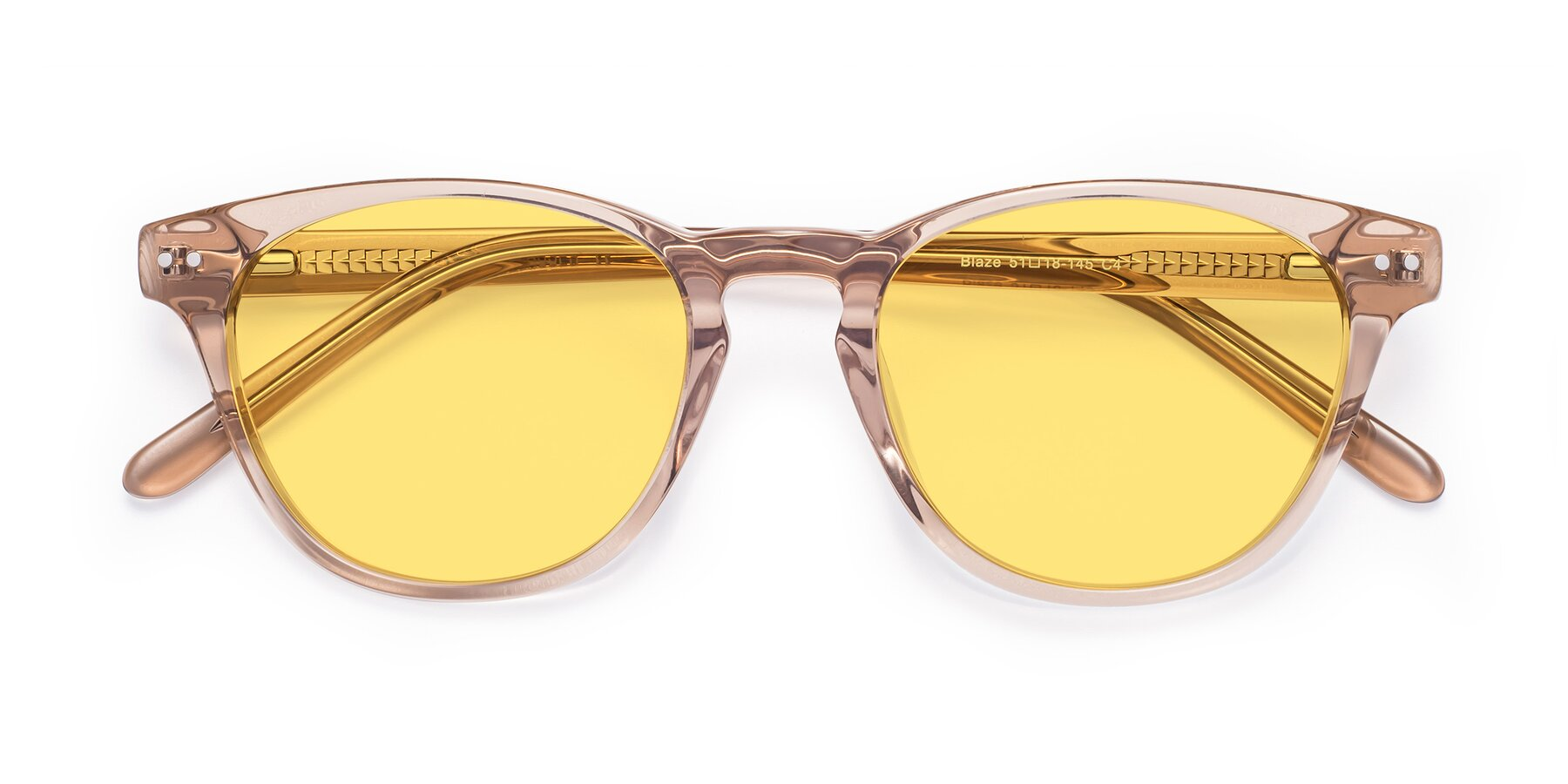 Folded Front of Blaze in light Brown with Medium Yellow Tinted Lenses