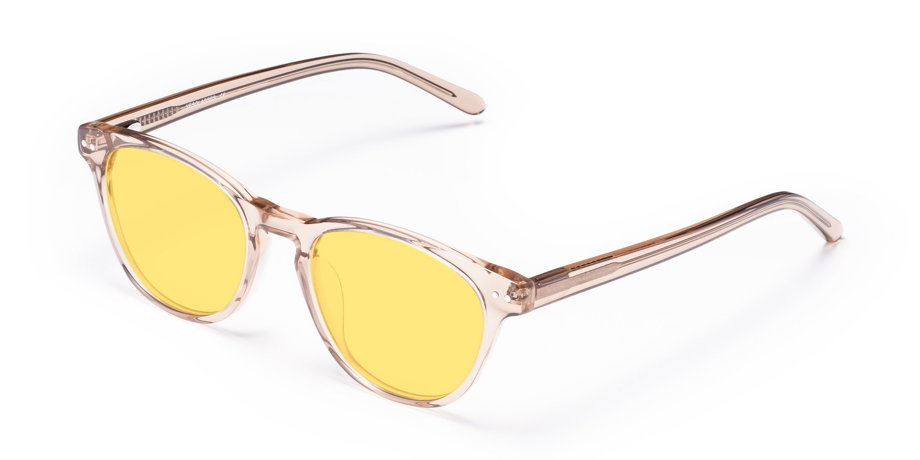 Angle of Blaze in light Brown with Medium Yellow Tinted Lenses