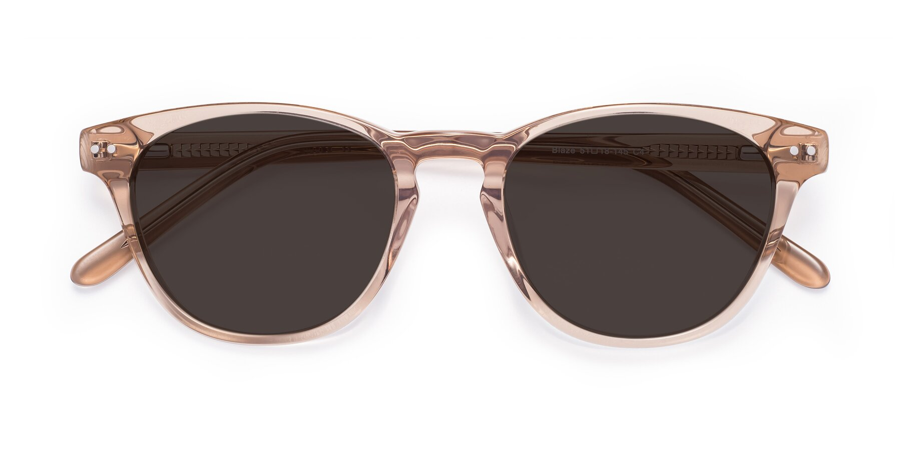 Folded Front of Blaze in light Brown with Gray Tinted Lenses