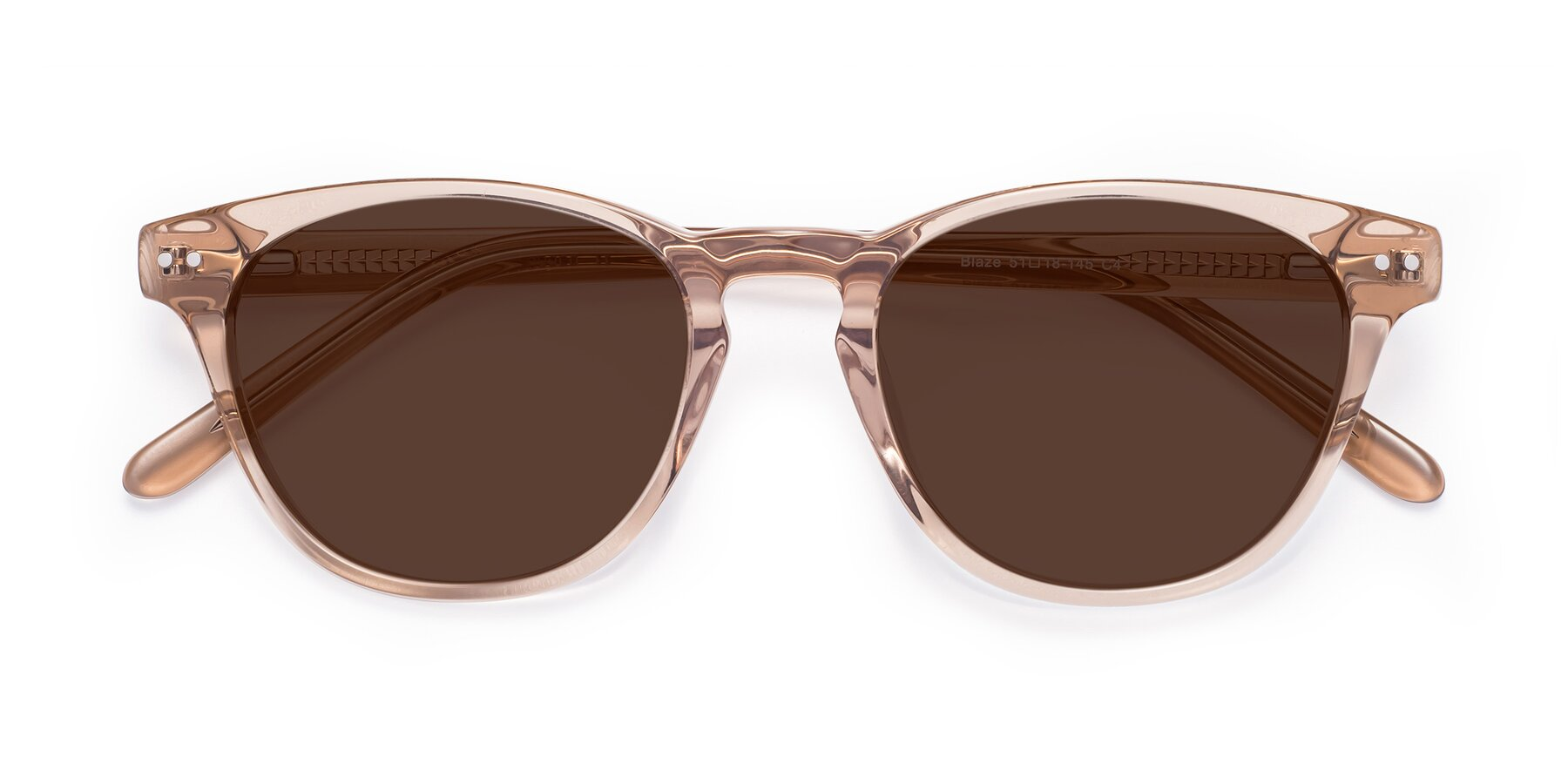 Folded Front of Blaze in light Brown with Brown Tinted Lenses