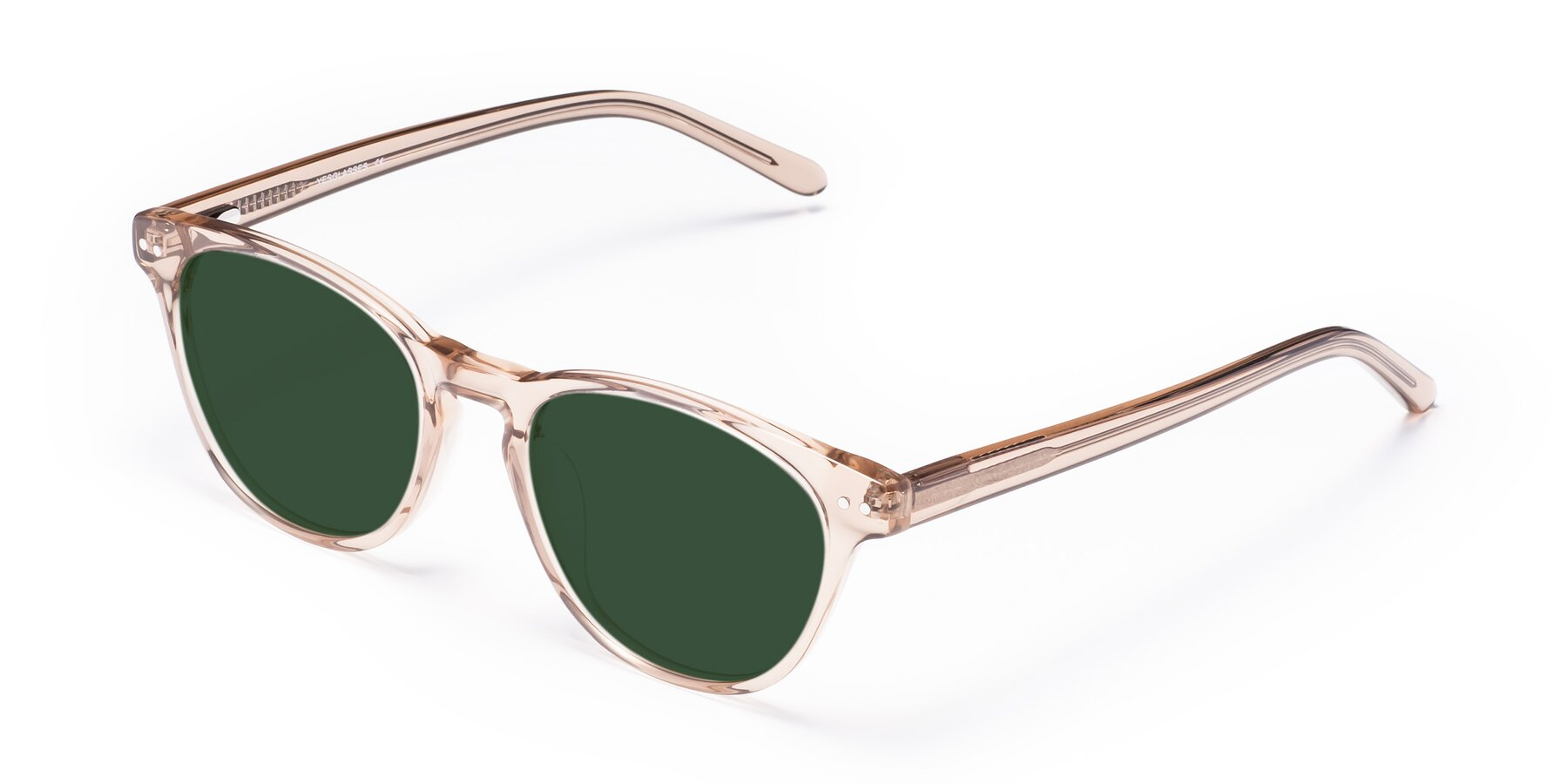 Angle of Blaze in light Brown with Green Tinted Lenses
